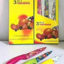 چاقو گلدار 3 عددی Kitchen Knife
