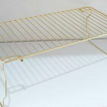 راف فلزی پایه تاشو کابینتی طلایی